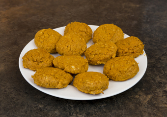 pumpkin cookies side