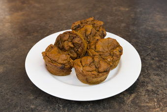 pumpkin muffins side