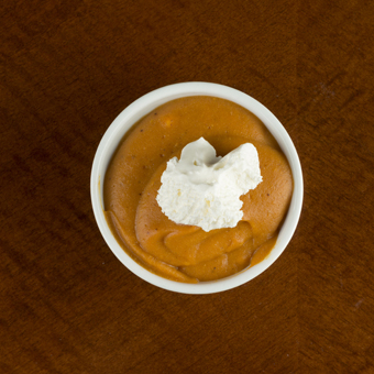 pumpkin puddingpie dessert