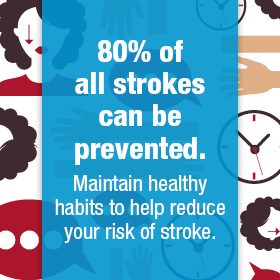 80% of all strokes can be prevented
