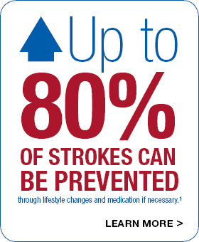 Up to 80% of strokes can be prevented