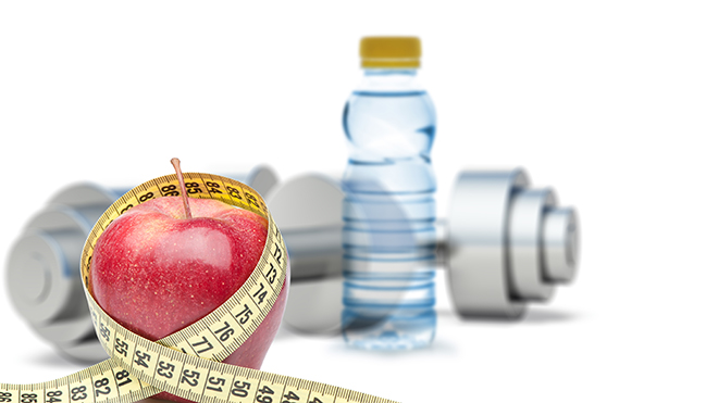 apple-water-and-measuring-tape