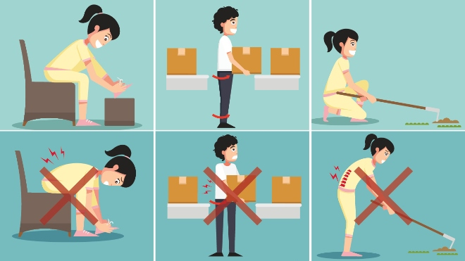 Dos and Donts for back pain illustration