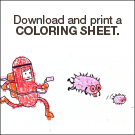 Download and print a handwashing coloring sheet.