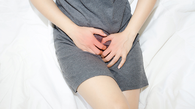 Female with pelvic pain