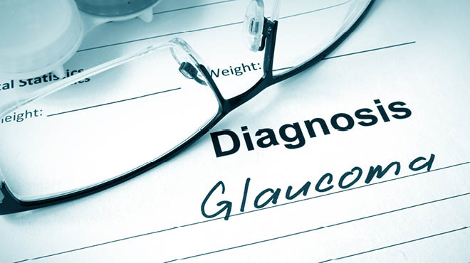 Glaucoma diagnosis eyeglasses
