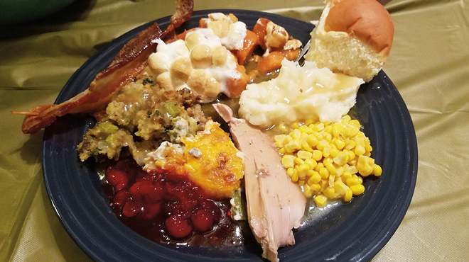 Holiday dinner on a plate