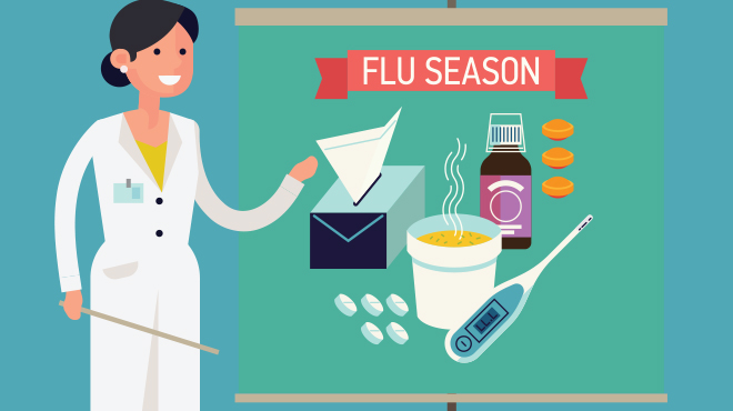 Illustrated flu season