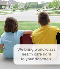 We bring world-class health care right to your doorstep.