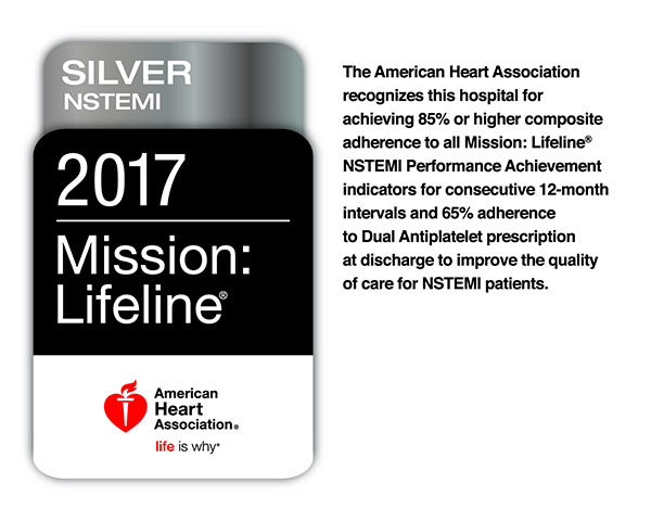 2017 Mission Lifeline Silver NSTEMI Receiving American Heart Association