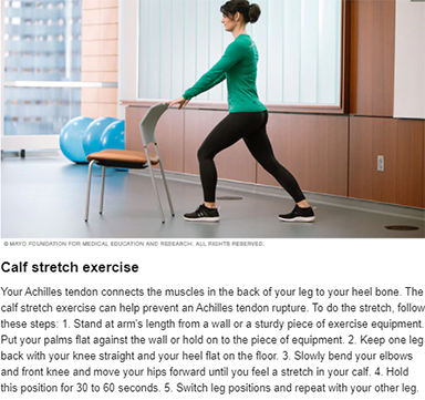Calf Stretch Exercise