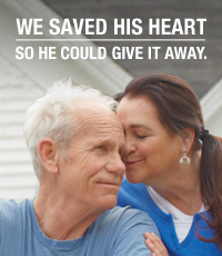 We saved his heart so he could give it away.