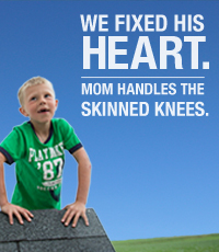 We fixed his heart.  Mom handles the skinned knees.